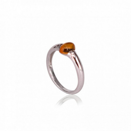 RING WHITE GOLD AND CITRINE