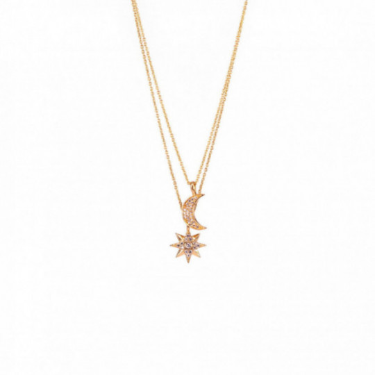 POLAR STAR AND LUNA NECKLACE