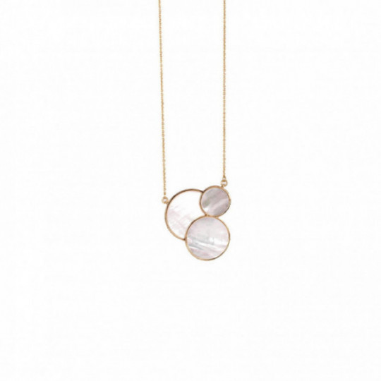 GOLD NECKLACE WITH MOTHER-OF-PEARL