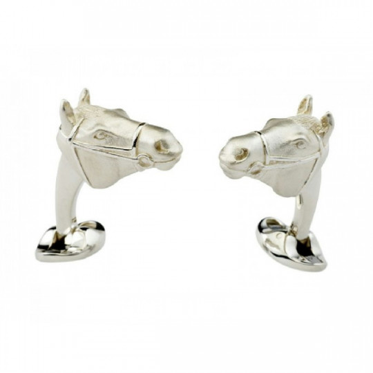 STERLING SILVER HORSE´S HEAD CUFFLINKS C1490X0001