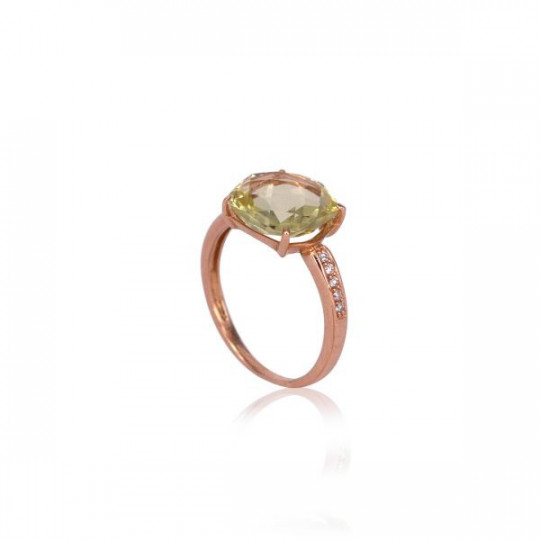 RING OF DIAMONDS AND PERIDOT