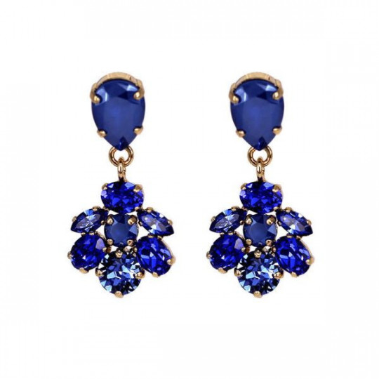 EARRINGS WITH BLUE SWAROVSKI CRYSTALS