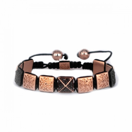 SILVER THREAD BRACELET PVD ROSE GOLD  & BRILLIANT