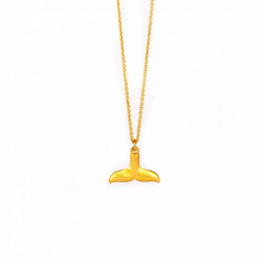 GOLDEN WHALE TAIL NECKLACE