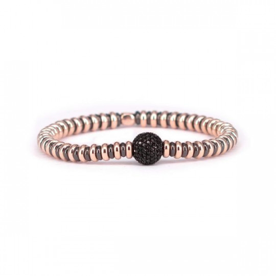 ROSÉ SILVER BRACELET WITH SPINEL SPHERE
