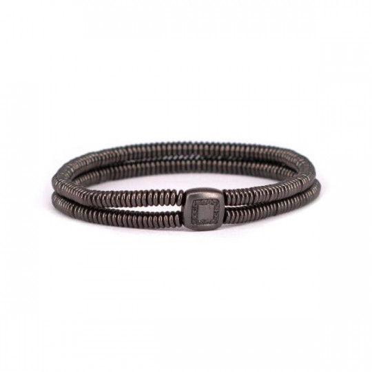 DOUBLE ELASTIC BRACELET WITH DIAMONDS