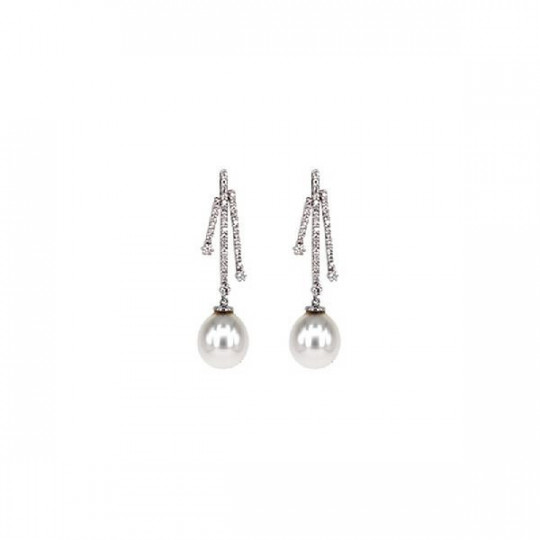 EARRINGS BRILLANTS & PEARL