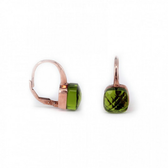 EARRINGS PRBÁSICO - ZIRCONIA GREEN