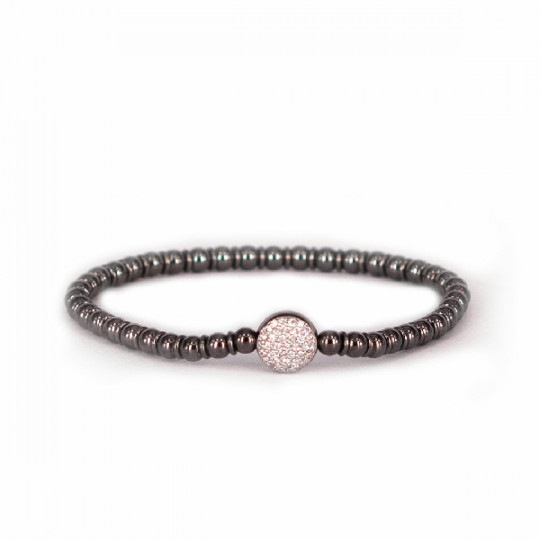 ELASTIC BRACELET WITH WHITE GOLD