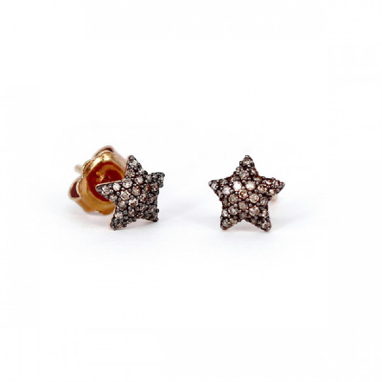 EARRINGS ROSE GOLD & STAR