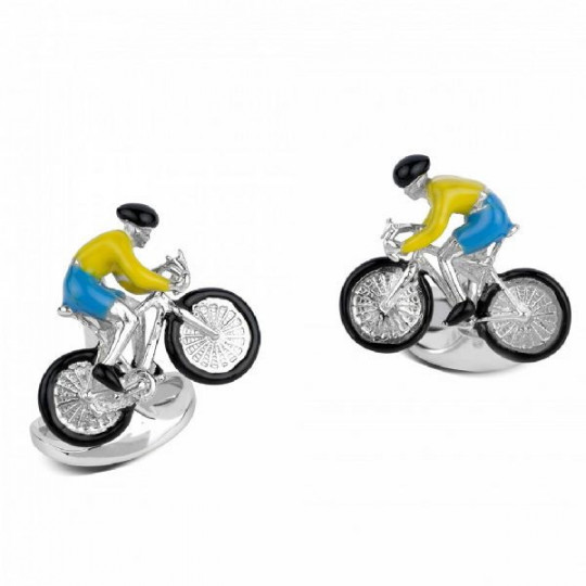STERLING SILVER BIKE & RIDER CUFFLINKS C1636S041122