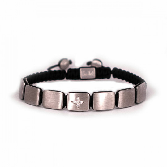 SILVER BRACELET CROSS DESIGN BRILLIANT