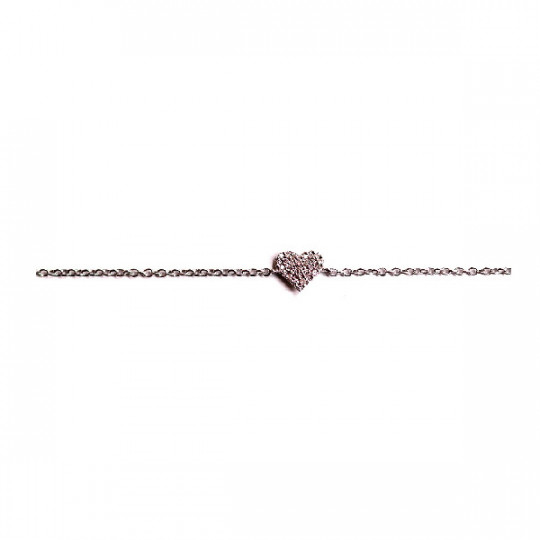 HEART SHAPED CHAIN BRACELET