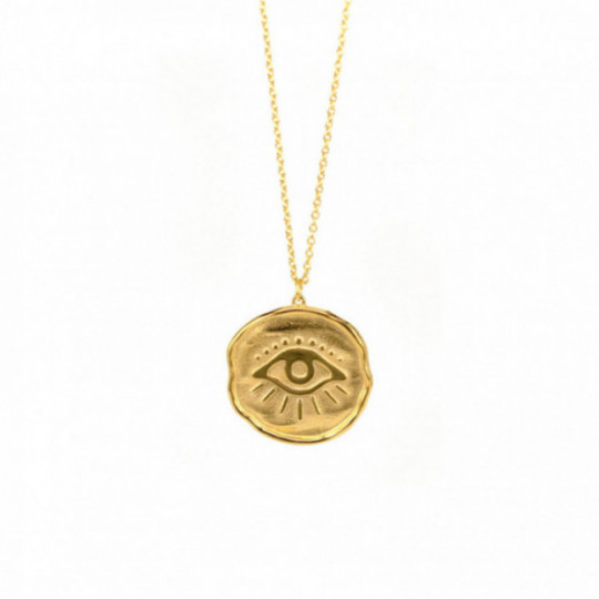 EYE PENDANT GOLDEN SILVER
