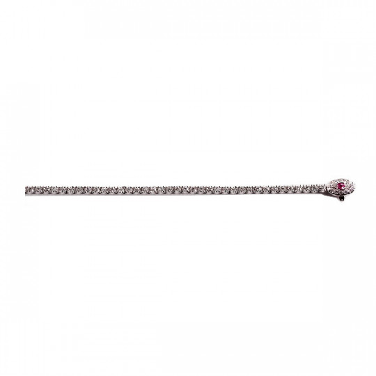 RIVIÈRE BRACELET WITH RUBY CLASP