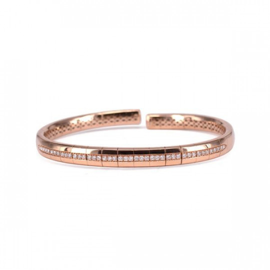 BRACELET MADE OF PINK GOLD CANE AND DIAMONDS