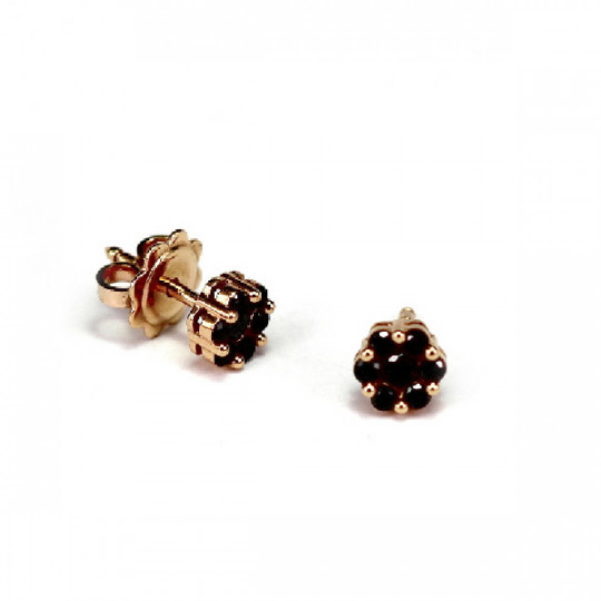 ROSE GOLD EARRINGS IN BRILLIANT BLACK