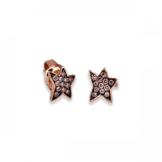 STAR EARRINGS WITH DIAMONDS