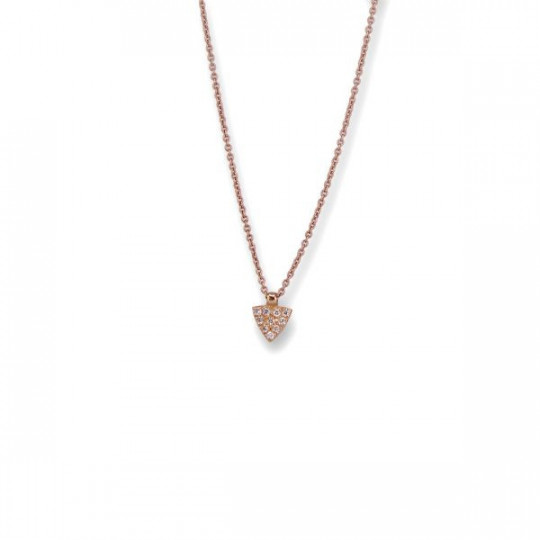 TRIANGULAR PENDANT WITH DIAMONDS