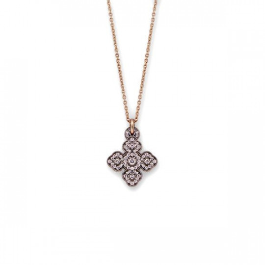 CROSS PENDANT WITH WHITE DIAMONDS