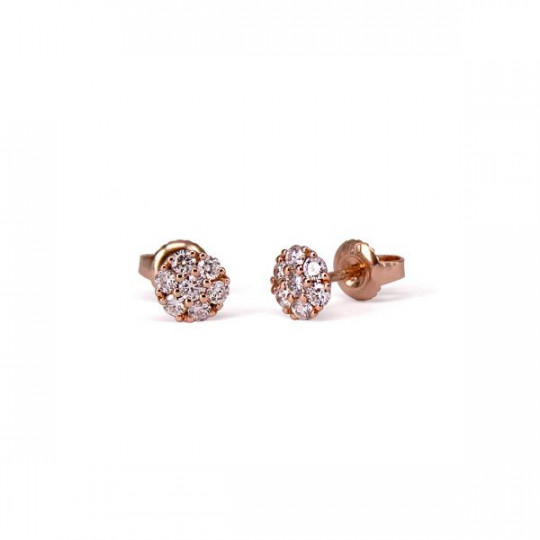 ROSETTE EARRINGS WITH WHITE DIAMONDS