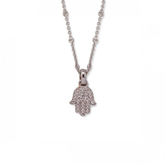 FATIMA HAND PENDANT WITH WHITE DIAMONDS
