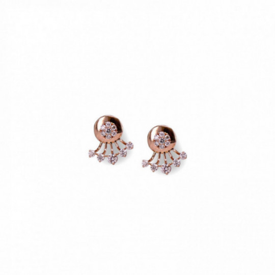 EARRINGS UNDER THE EARLOBE WITH DIAMONDS