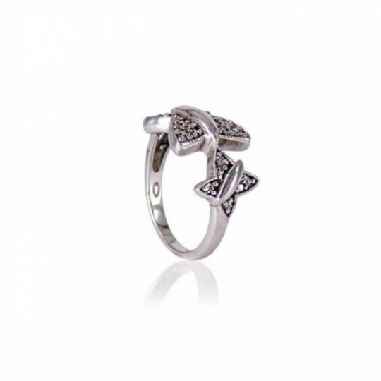 BUTTERFLY RING WITH ZIRCONIA
