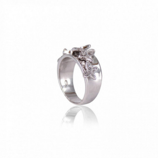 BUTTERFLY RING WITH WHITE ZIRCONIA