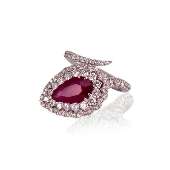 RING OF DIAMONDS AND RUBY