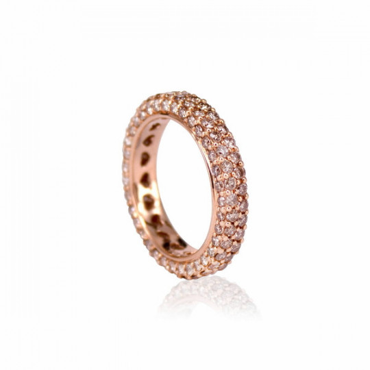 COMPLETE RING OF DIAMONDS BROWN