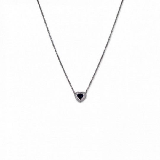 CHOKER HEART OF SAPPHIRE AND DIAMONDS