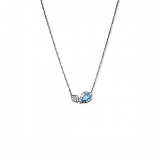 CHOKER WITH BLUE TOPAZ AND GEM-SET DIAMONDS