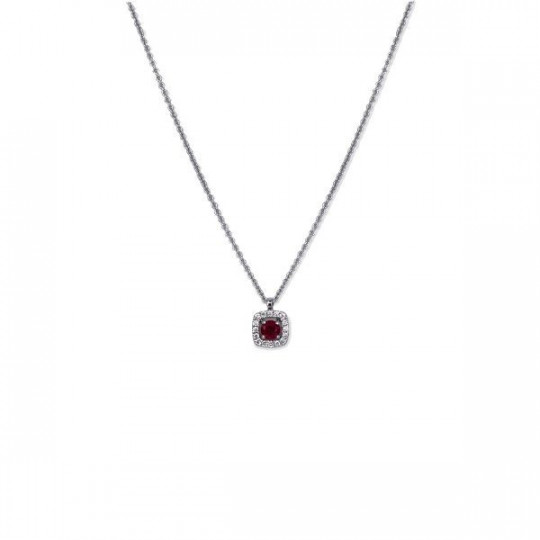 SQUARE CHOKER WITH RUBIES AND DIAMONDS
