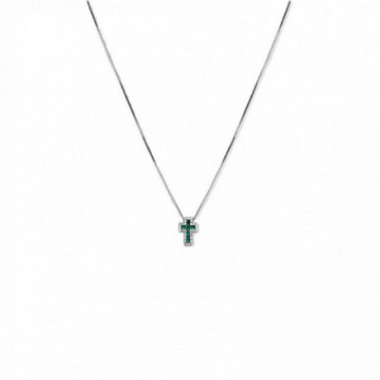 EMERALD AND BRIGHT CHOKER CROSS