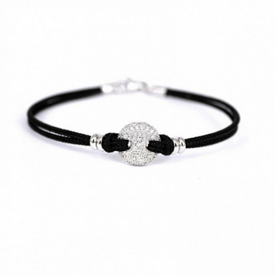 CORD BRACELET WITH DIAMONDS