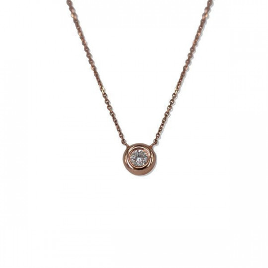 SMALL DIAMOND CIRCLE NECKLACE