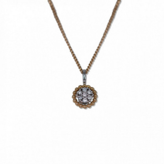 BICOLOUR PENDANT WITH DIAMONDS