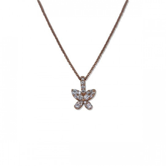 NECKLACE FLOWER WITH DIAMONDS