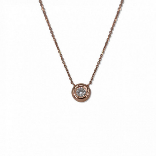 NECKLACE WITH DIAMOND CIRCLE