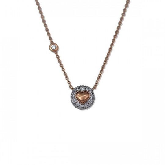 NECKLACE HEART WITH DIAMONDS