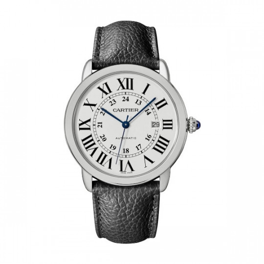 RONDE SOLO DE CARTIER WATCH WSRN0022 42 MM, STEEL, LEATHER