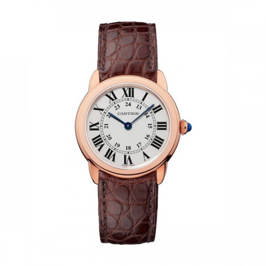 RONDE SOLO DE CARTIER WATCH W6701007 29 MM, ROSE GOLD, STEEL, LEATHER