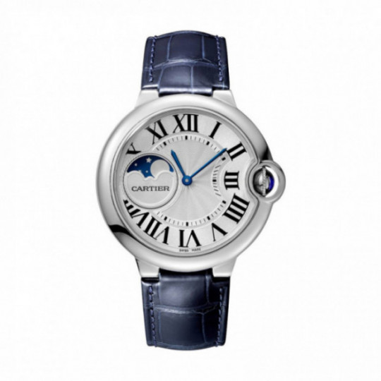 BALLON BLEU DE CARTIER WATCH WSBB0020 37 MM, STEEL, LEATHER
