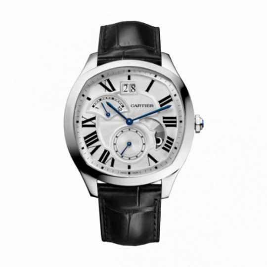 DRIVE DE CARTIER WATCH WSNM0005 41 MM, STEEL, LEATHER