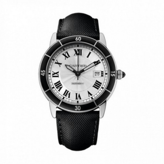 RONDE CROISIERE DE CARTIER WATCH WSRN0002 42 MM, STEEL, LEATHER