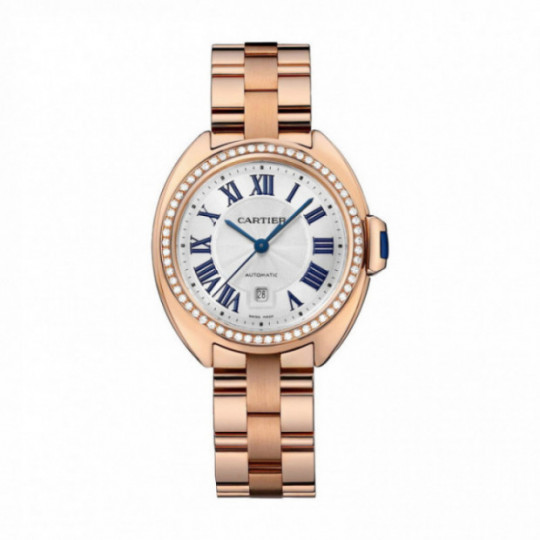 CATIER CLÉ WATCH WJCL0003 31MM, ROSE GOLD, DIAMONDS