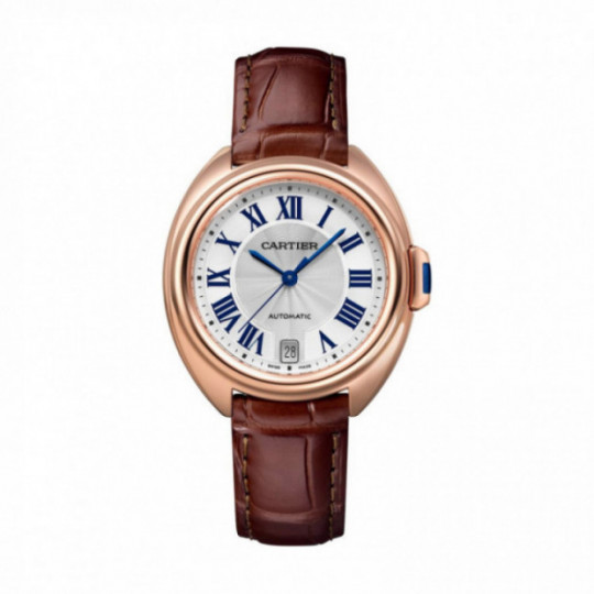 CARTIER CLÉ WATCH WGCL0013 35 MM, ORO ROSA, PIEL