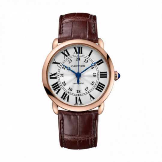 RONDE LOUIS CARTIER WATCH WGRN0006 36 MM, PINK GOLD, LEATHER