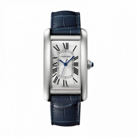 TANK AMÉRICAINE CARTIER WATCH WSTA0018, ACERO, PIEL